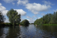 Tussen Fiets- en kanoverhuur ten Brinke en stuw Rekken