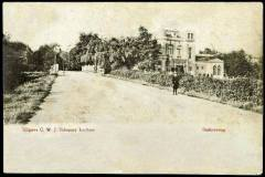 Berkelgezicht bij de Hoevenbrug (Stationsweg, nu Graaf Ottoweg) eind 19e eeuw, met Villa Endepol, foto Hendri van Zuilekom