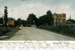 Berkelgezicht bij de Hoevenbrug (Stationsweg, nu Graaf Ottoweg), met rechts Villa Endepol en links Bella Vista, begin 20e eeuw