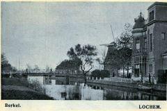 Berkelgezicht Lochem rond1900 bij Villa Endepol, Hoevenbrug en Molen Reudink