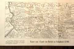 Kaart van 't Land van Berkel en Schipbeek, 1740