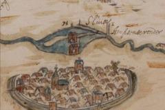 Kaartje van Lochem aan de Berkel in 1643 (Gelders Archief, MolenDB)
