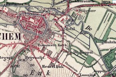 Kaartje van Lochem aan de Berkel, eind 19e eeuw, TopoTijdreis.nl