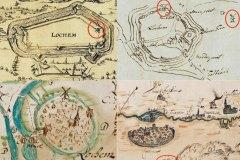 Kaartjes van Lochem met de Berkel met molens (Historisch Genootschap)