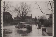Lochem, Berkel overstroomd, 1947, Graaf Ottoweg