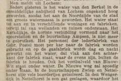 Lochem, Berkel overstroomd, Krantenartikel 10-01-1925