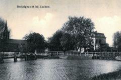 Stuw en Sluis, begin 20e eeuw, rechts Villa De Pol