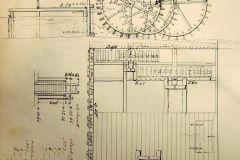 Watermolen 1845, tekening Staring, HG