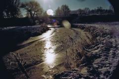 Fotowedstrijd-Werner Lepping-Berkel Stadtlohn met spoorbrug