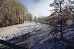 Fotowedstrijd-Werner Lepping-Berkel Stadtlohn voor spoorbrug