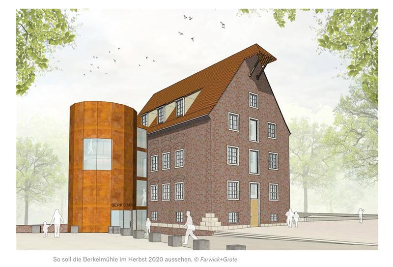 Münsterland Zeitung: Verbouwing gebouw molen Stadtlohn zou in de herfst van 2020 gereed moeten zijn
