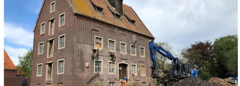 Münsterland Zeitung: Graber graben am Fundament der Berkelmühle in Stadtlohn