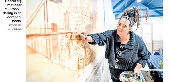 Tubantia: Muurschilderingen Hilda Haselberg in Zompenloze Borculo