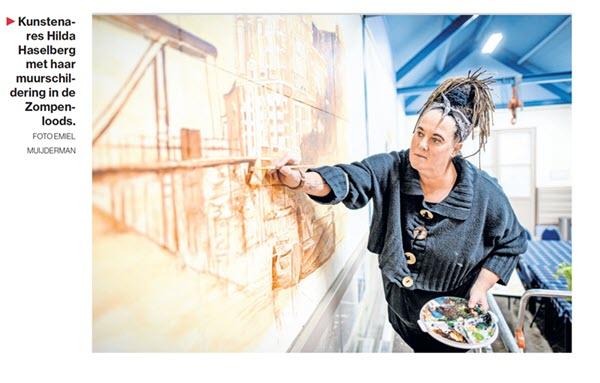 Tubantia: Wandgemälde Hilda Haselberg im Zompenloze Borculo