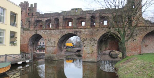 De Berkelpoort in Zutphen im Laufe der Jahre
