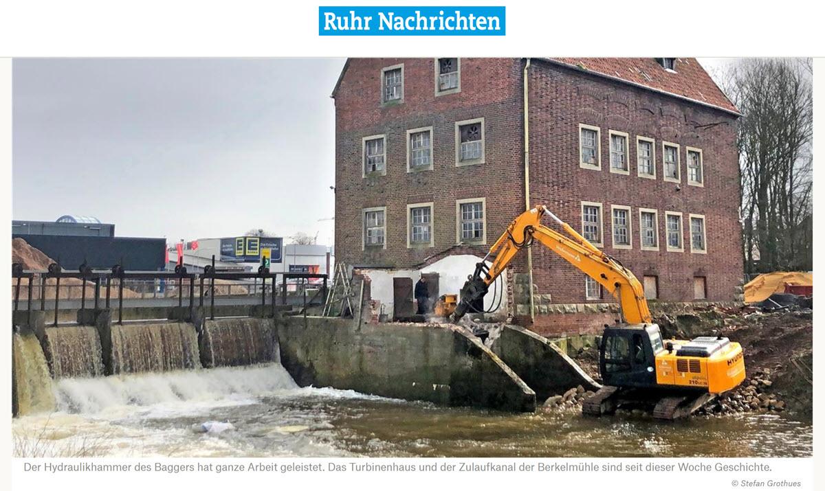 Turbinehuisje Berkelmolen Stadtlohn Geschiedenis