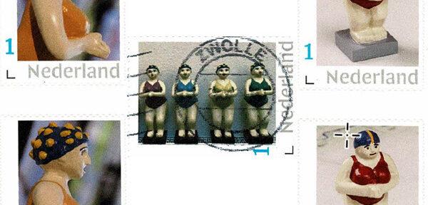 Badende postzegels