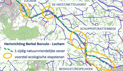 Plan 'Beleef de Berkel' Borculo – Lochem angepasst