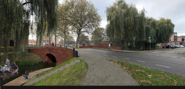 Nieuwe Berkelbrug Burg. Bloemersstraat Borculo